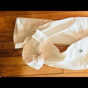 White Cargo Pants by Marc Jacobs